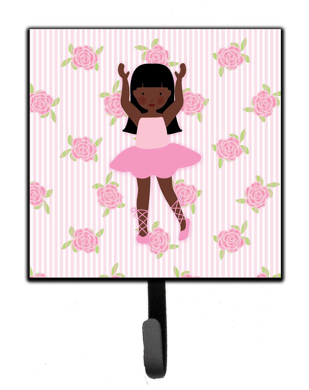 Harriet Bee Eggar Ballerina African American Long Hair Wall Key Organizer With Key Hooks Wayfair