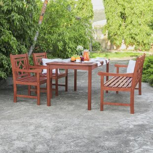 Stephenie 4 Piece Patio Dining Set by Longshore Tides Today Only Sale