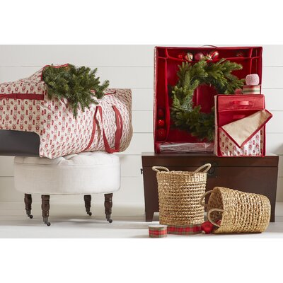 holiday wreath storage box