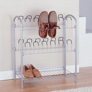 Organize It All 12 Pair Shoe Rack