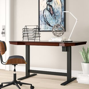 Tedford Adjustable Glass Standing Desk by Comm Office Herry Up