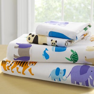Olive Kids Endangered Animals 205 Thread Count 100% Cotton Sheet Set