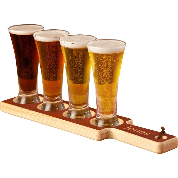 jds personalized gifts personalized gift 5 piece beer flight paddle