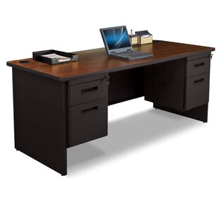 Crivello Double Pedesta Lockl Computer Desk