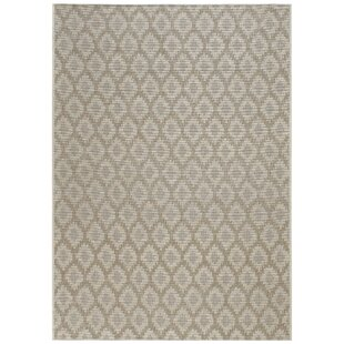 Hanish Diamond Tan Indoor/Outdoor Area Rug