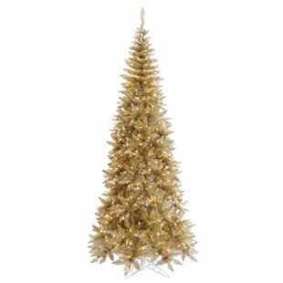 Tinsel 6 5 Champagne Fir Artificial Christmas Tree With 400 Clear Lights