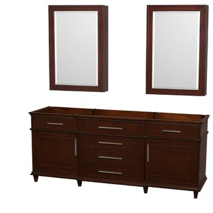Berkeley 79 Double Bathroom Vanity Base by Wyndham Collection