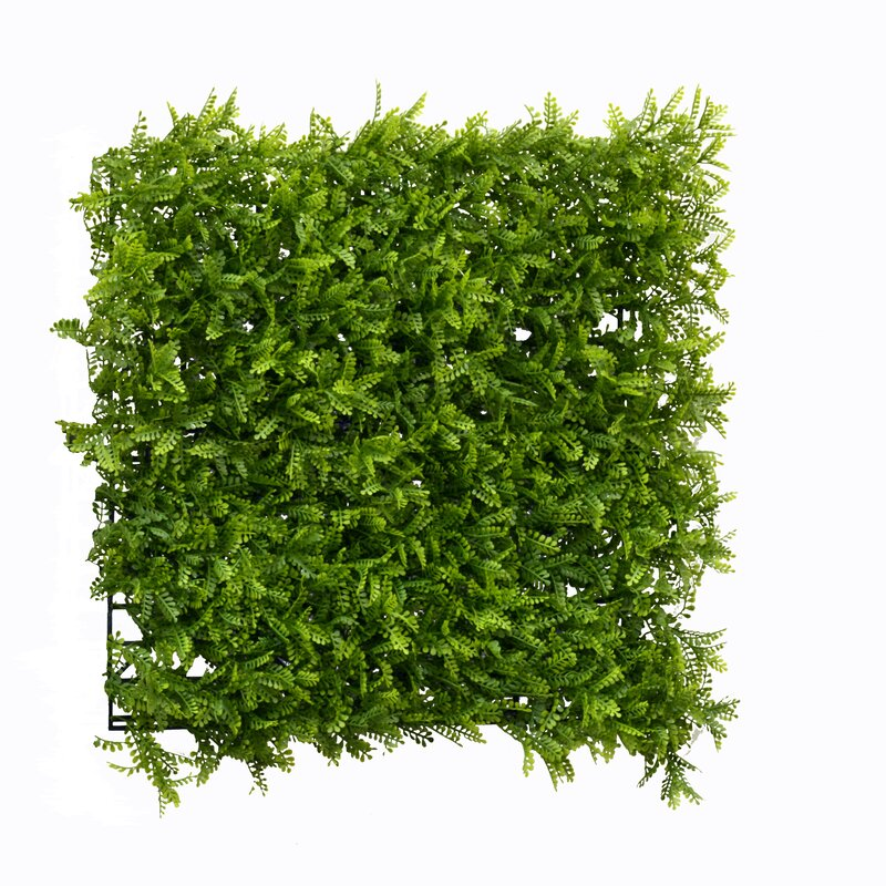 Greensmart Dekor 1 5 Ft H X 1 5 Ft W Artificial Leaf Fern Fence Panel Wayfair
