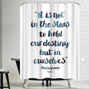 Elena Oneill Skakespeare Quote Single Shower Curtain