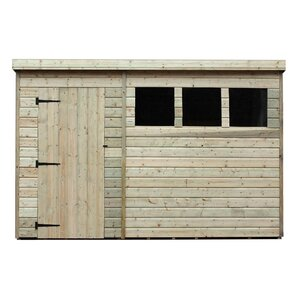 Perfect 10 X 6 Wooden Garden Shed