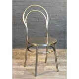 Cosette Metal Slat Back Stacking Side Chair (Set of 2) by Mercer41