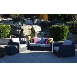 Peninsula Deep Sunbrella Seating Group with Cushions by E9-Halo