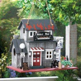 Zingz & Thingz Biker Bar 9 in x 10.5 in x 7.5 in Birdhouse