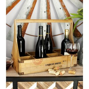 Wood 8 Bottle Tabletop Wine Bottle Rack b..