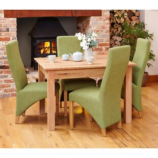 Sundhya Dining Set With 4 Chairs By Ebern Designs