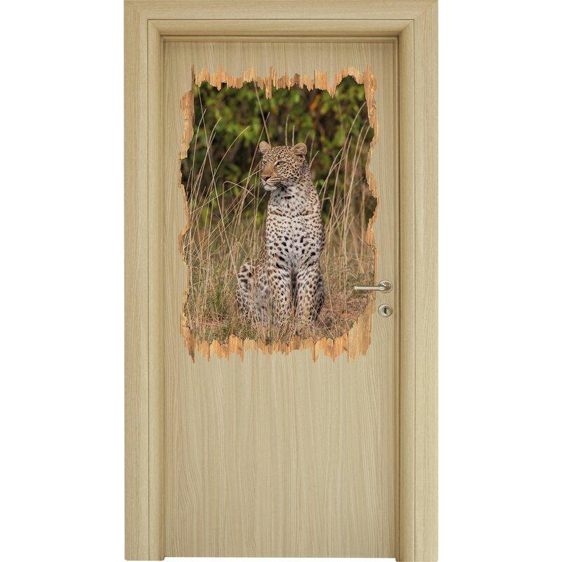 home loft concept graceful leopard in tall grass wall sticker