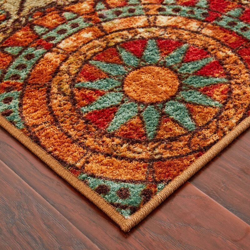 brown very pin floral flowers orange area rug with nice