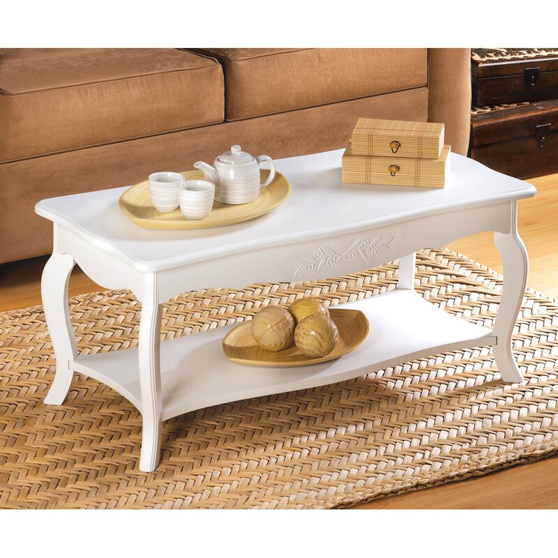 Merveilleux Aya White Elegant Coffee Table