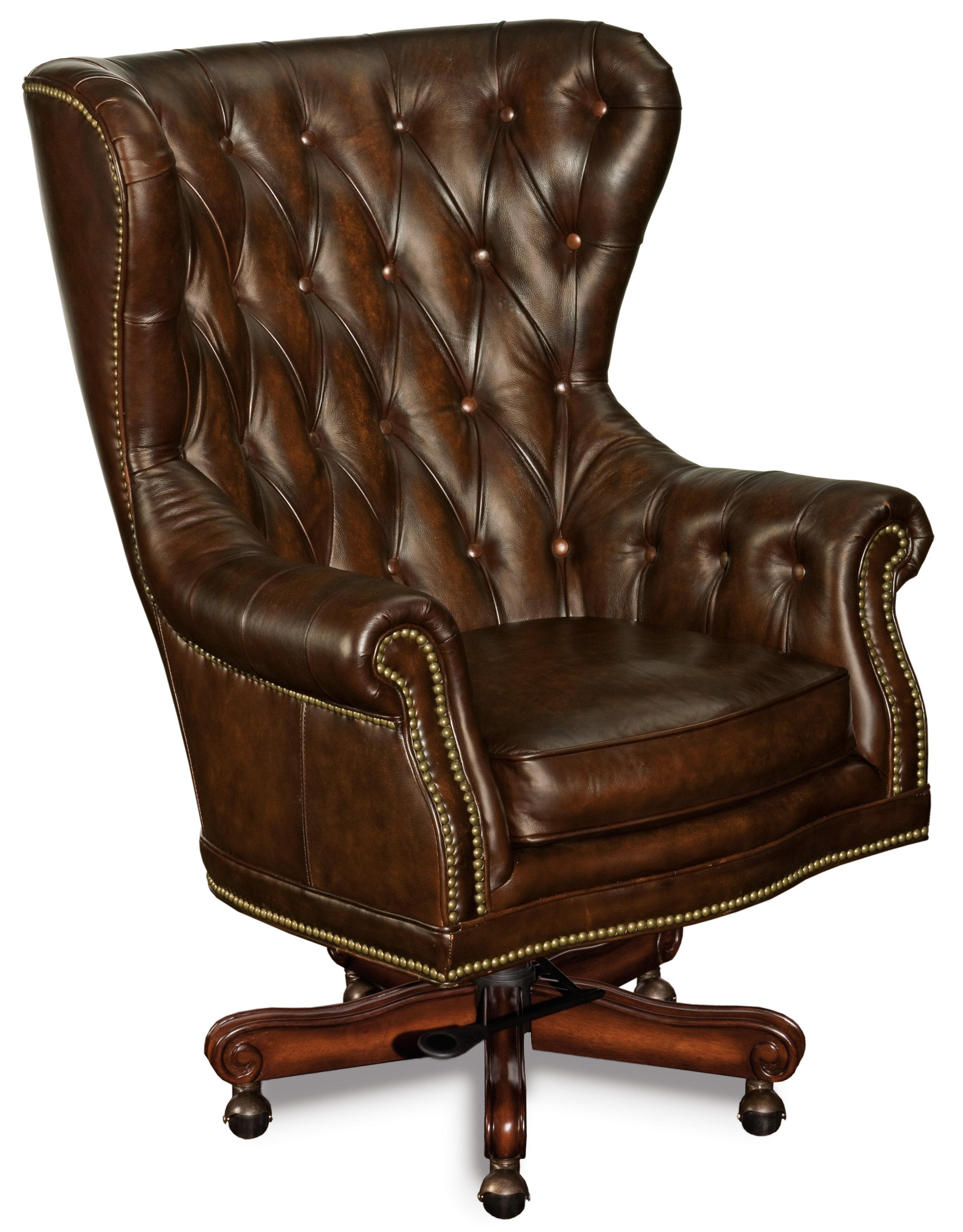 Genuine Leather Executive Chair Reviews Birch Lane