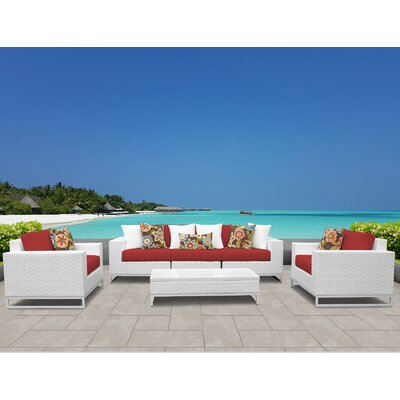 Awe Inspiring Tk Classics Miami 6 Piece Sofa Set With Cushions Cushion Cjindustries Chair Design For Home Cjindustriesco