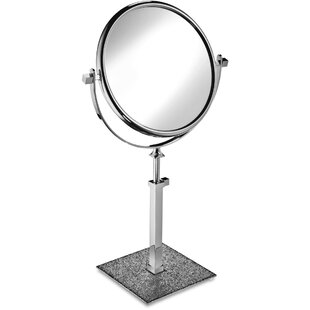 Affordable Patrice Circular Makeup/Shaving Mirror By Rosdorf Park