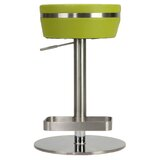 Upshaw Adjustable Height Swivel Bar Stool by Orren Ellis