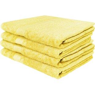 4 Piece 100% Cotton Bath Towel Set (Set of 4)