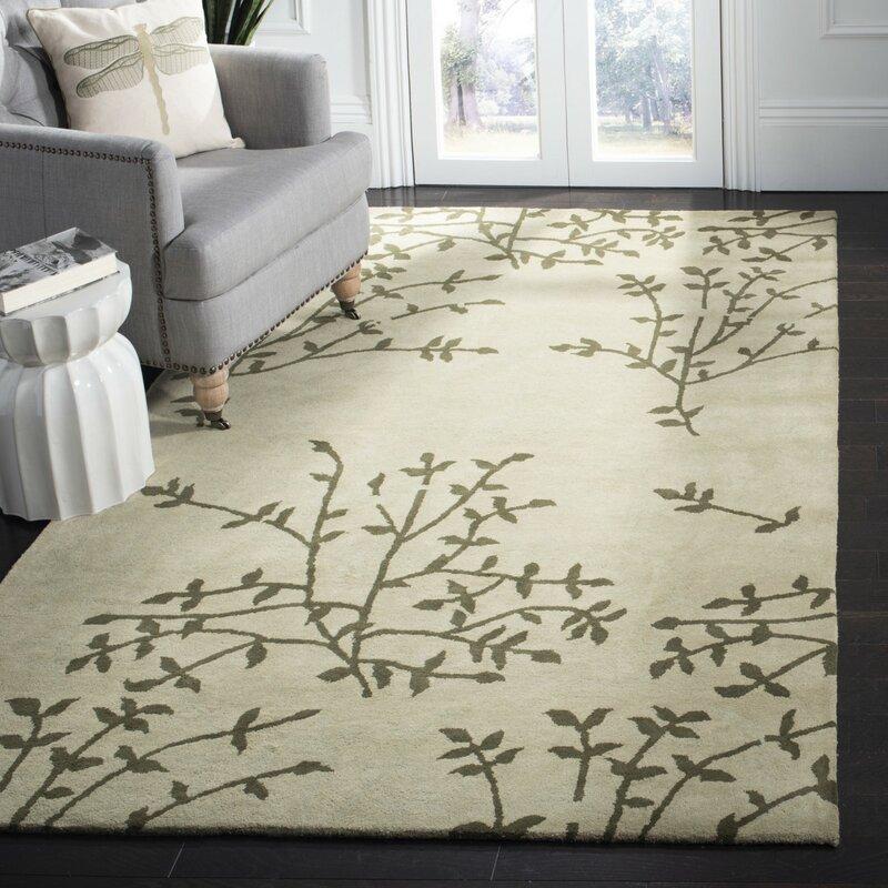 Ebern Designs Lockwood Hand Tufted Wool Green Area Rug Reviews Wayfair