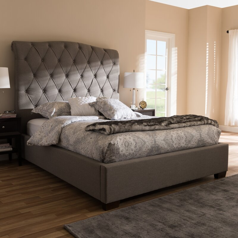 Leavy Upholstered Sleigh Bed Amp Reviews Birch Lane