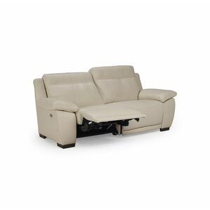 Sandro Leather Reclining Loveseat by Natuzzi Editions