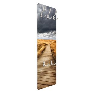 Path In The Dunes Wall Mounted Coat Rack By Symple Stuff
