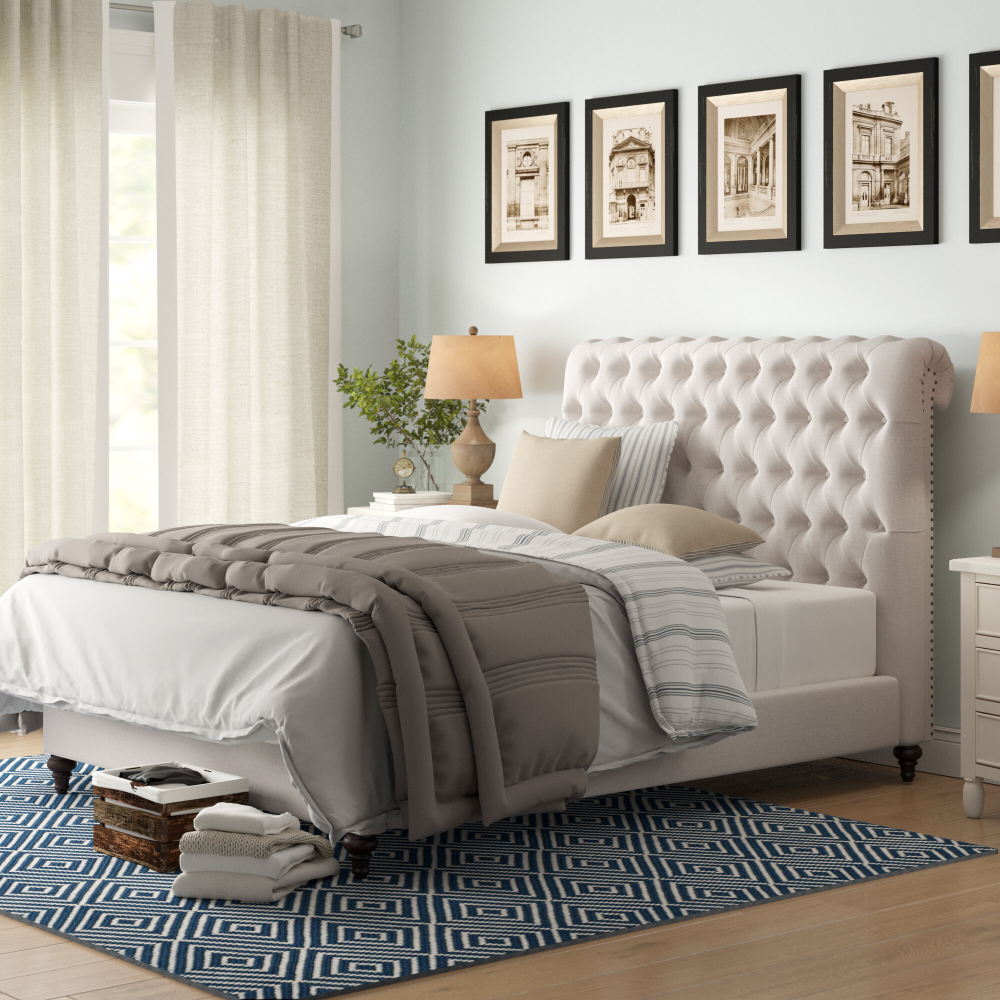 - Birch Lane™ Heritage Devon Upholstered Sleigh Bed & Reviews Wayfair