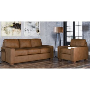 Blanca 2 Piece Leather Living Room Set By Westland And Birch