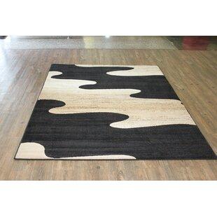 Sarenac Black/Beige Area Rug ByOrren Ellis