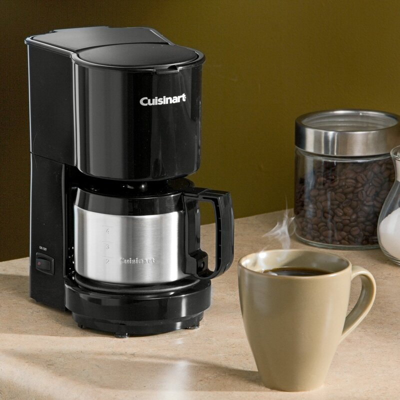 Cuisinart 4 Cup Coffeemaker With Stainless Steel Carafe Reviews Wayfair