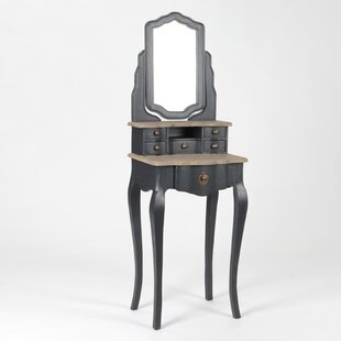 Tyron Dressing Table With Mirror By Fleur De Lis Living