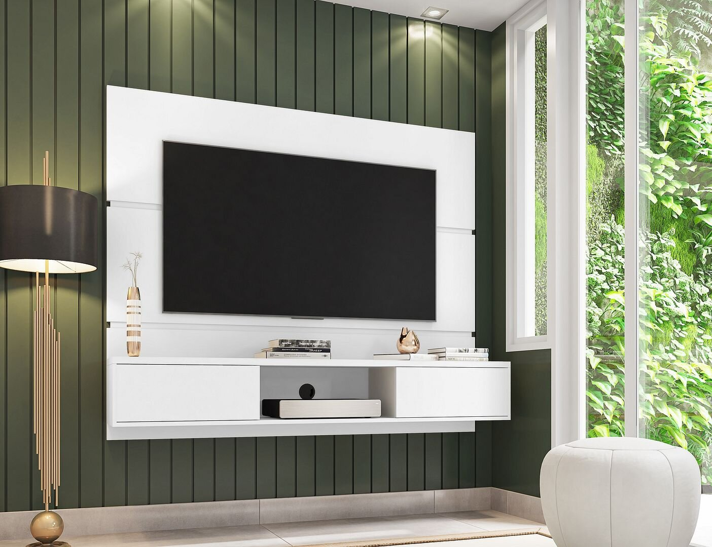 ivy bronx neilson floating entertainment center for tvs up to 55 w