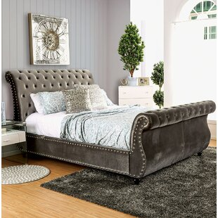 Everly Quinn Flannery Upholstered Sleigh Bed