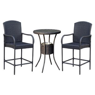 Capps Outdoor 3 Piece Bistro Set