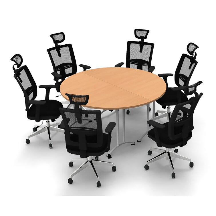 Symple Stuff Cotswald Circular Conference Table and Chair Set