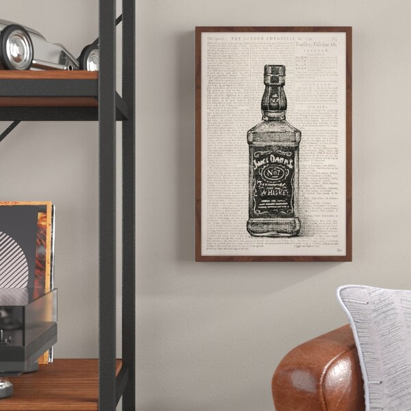 Wall Art Canvas Picture Print JACK DANIELS  Framed  Ready to Hang