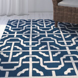 Great Price Whittenburg Cobalt/White Area Rug By Wrought Studio