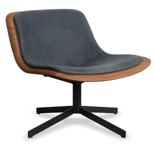 Nonesuch Leather Swivel Lounge Chair