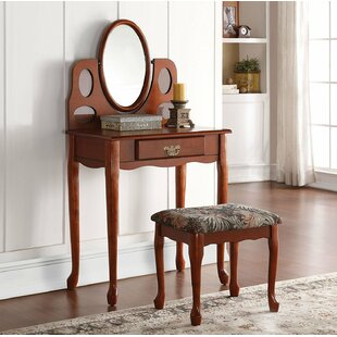 Darby Home Co Everts Vanity Set with Mirror