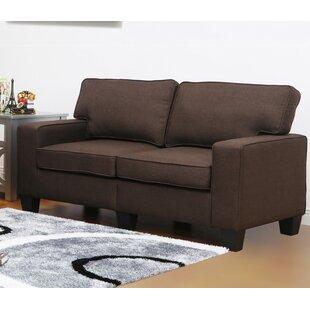 Charlee Linen Modern Living Room Loveseat by Winston Porter