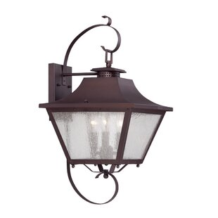 Best Price Berryman 3-Light Outdoor Wall Lantern By Fleur De Lis Living