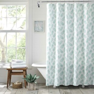 Tossed Pineapple Cotton Single Shower Curtain