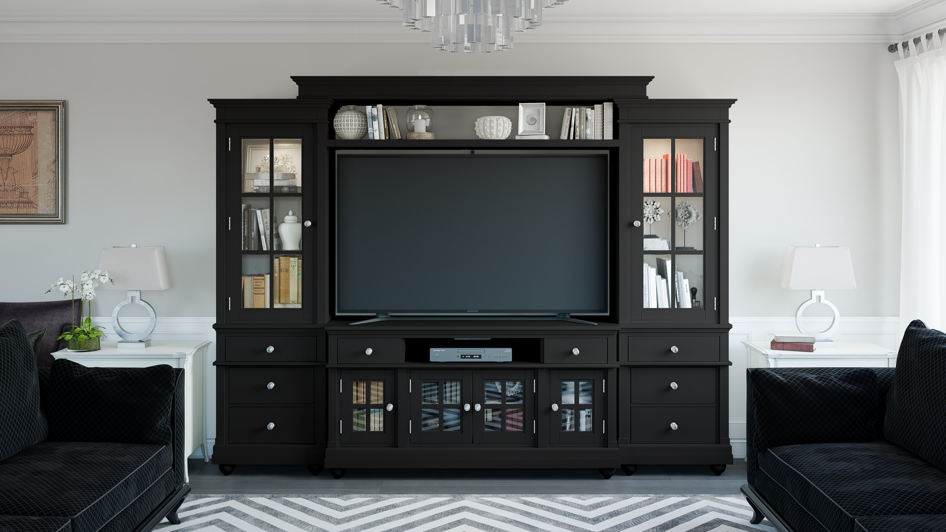 Schmitz Entertainment Center for TVs up to 70 inches