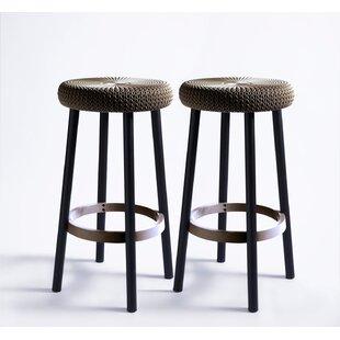 Strange Cozy 26 Patio Bar Stool Set Of 2 Theyellowbook Wood Chair Design Ideas Theyellowbookinfo
