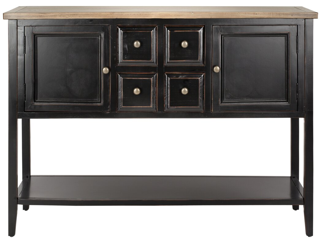 Charlotte Shag Console Table #countryconsole #blackconsole